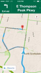 Intervention: Google Maps