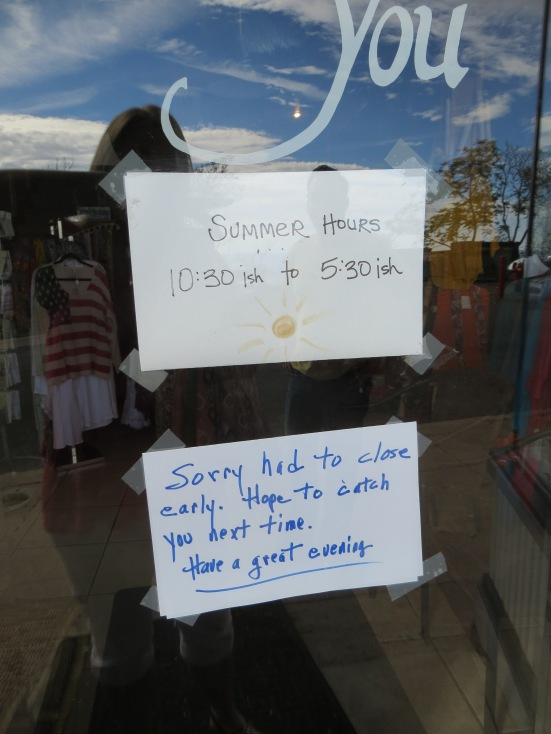 The residents of Jerome aren't sticklers for business hours.
